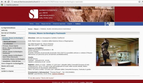 musei e web,musei e social network,siti web museali,museo civico diano marina