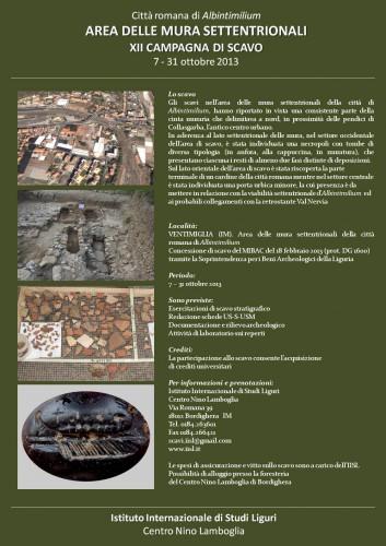 ventimiglia, scavi archeologici, iisl