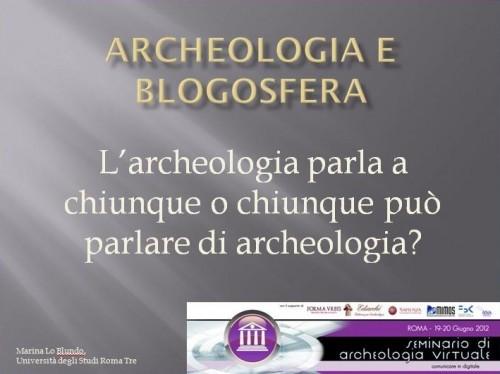 archeologia e blogosfera