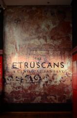 "locandina mostra ""Etruscans: a classical fantasy"""