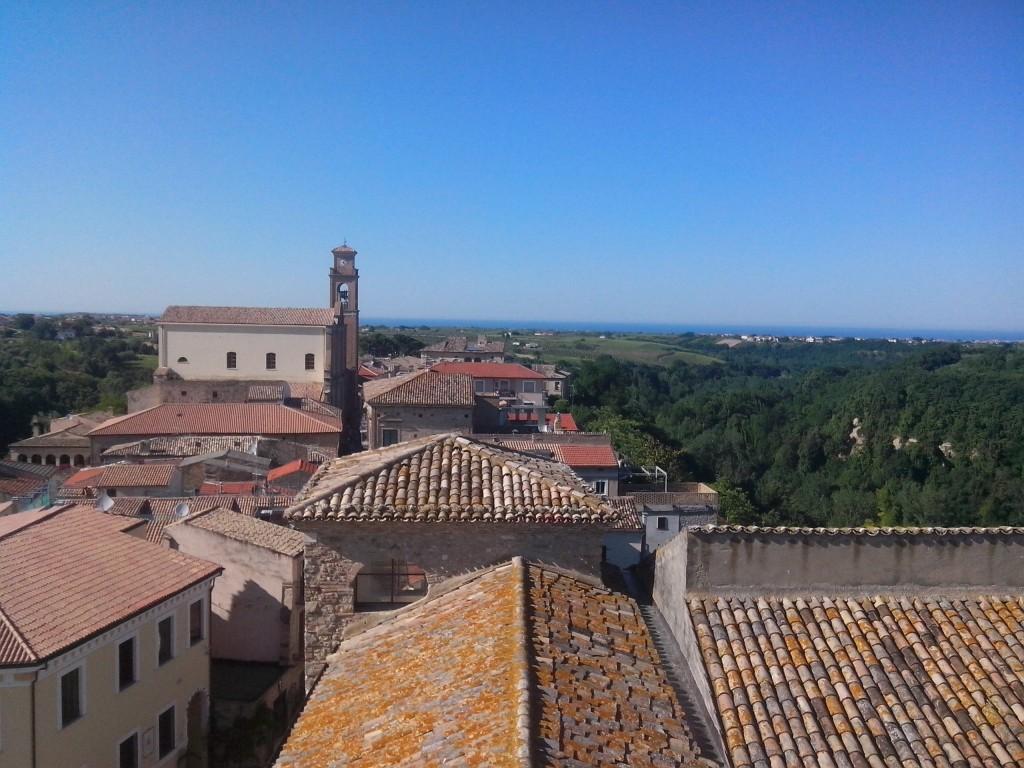 Vedduta del borgo dal castello