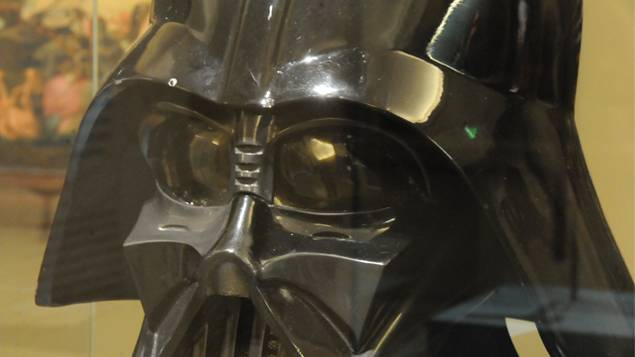 La maschera di Darth Vader, originale del 1979 (vero oggetto archeologico!)