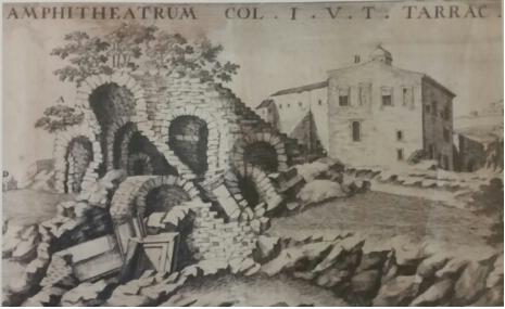 Fantasia ma non troppo in questa raffigurazione settecentesca delle rovine dell'anfiteatro